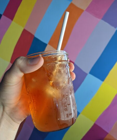 blueberry muffin top iced tea